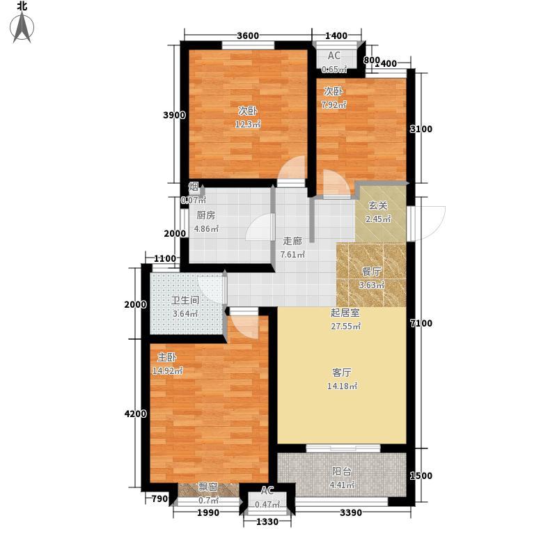 凯旋公馆113.00㎡A3户型3室2厅
