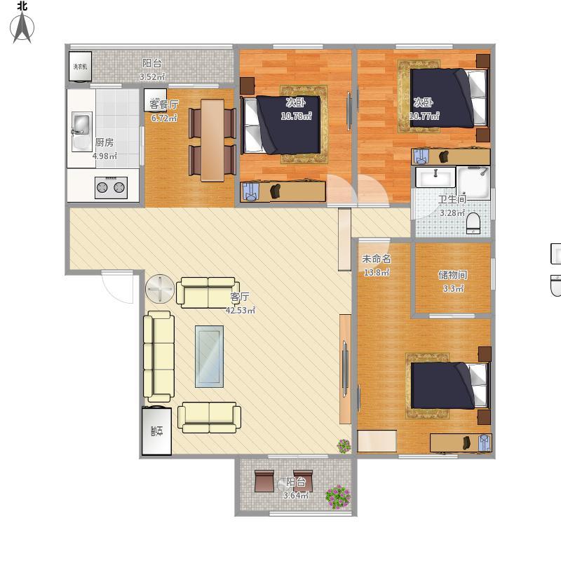 120三室两厅两卫