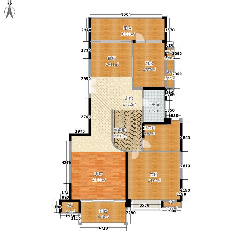 岭南新世界176.00㎡峰荟D-D2复式下层户型3室3厅