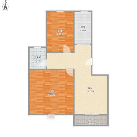 共江小区2室1厅1卫1厨103.00㎡户型图