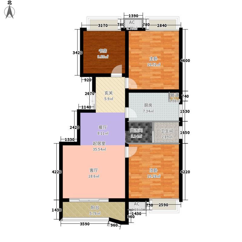 郑州升龙天汇广场113.54㎡A户型3室2厅