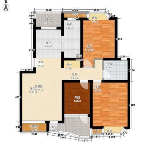 上大聚丰园二期3室0厅1卫1厨133.00㎡户型图