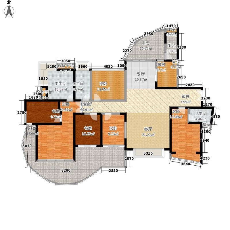 凤凰海域227.76㎡A1户型4室2厅