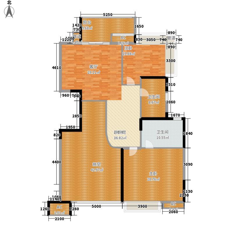 岭南新世界176.00㎡峰荟D-D2复式上层户型3室3厅