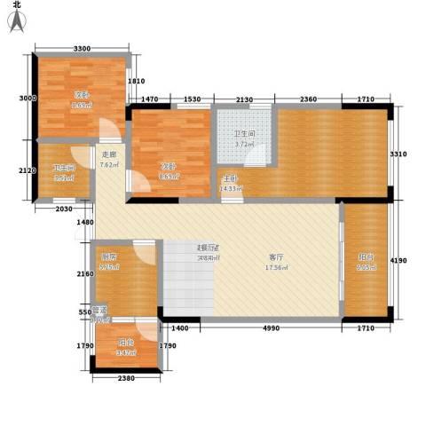 金山广场3室0厅2卫1厨110.00㎡户型图