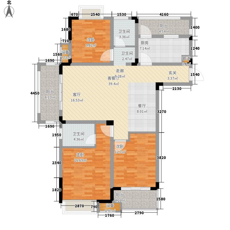 苏宁·天御广场127.00㎡D户型3室2厅