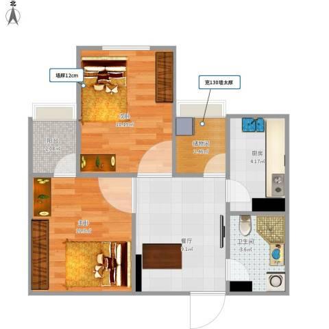 中国气象局小区2室1厅1卫1厨46.93㎡户型图