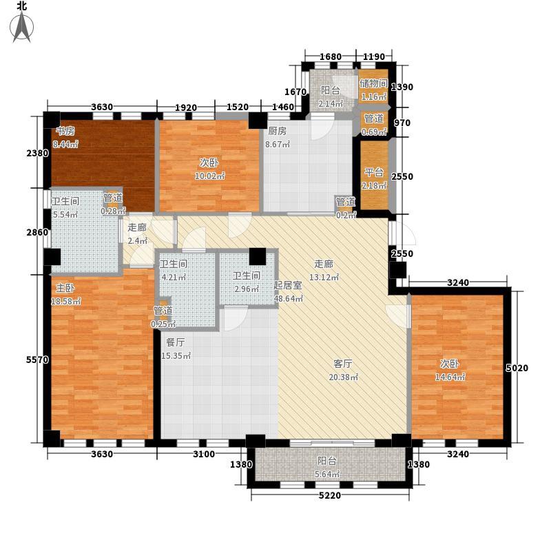 惠灵顿国际社区河滨花苑189.00㎡B3户型4室2厅3卫