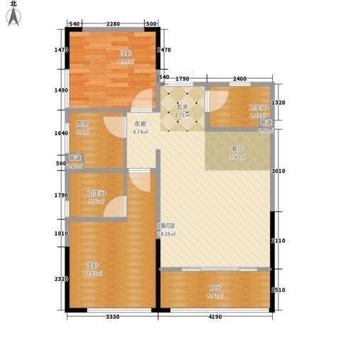 金山广场2室0厅2卫1厨81.00㎡户型图