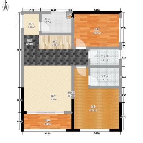 金山广场2室0厅2卫1厨94.00㎡户型图