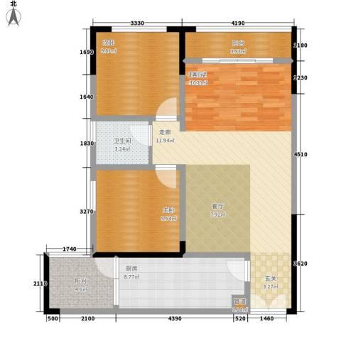 金山广场2室0厅1卫1厨96.00㎡户型图