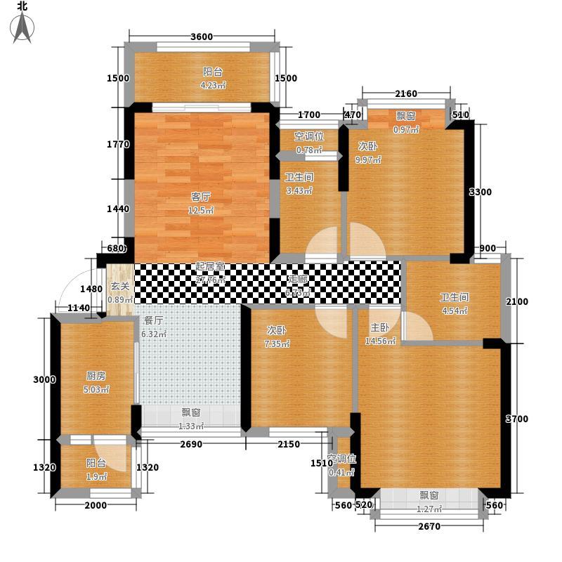 合景天汇广场96.00㎡合景天汇广场21#户型3室2厅