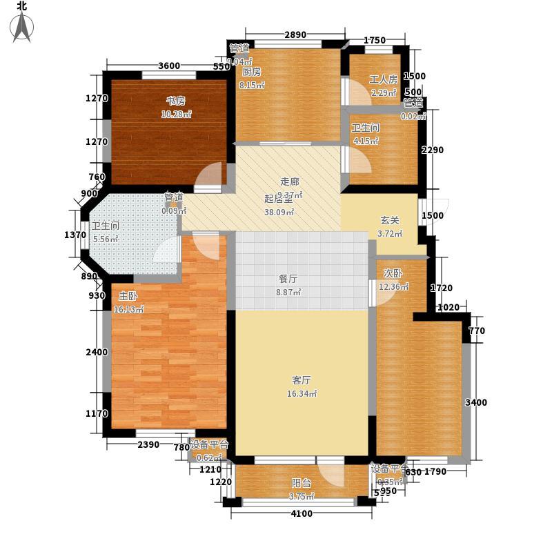 听雨观澜电梯洋房129.00㎡听雨观澜电梯洋房户型3室2厅