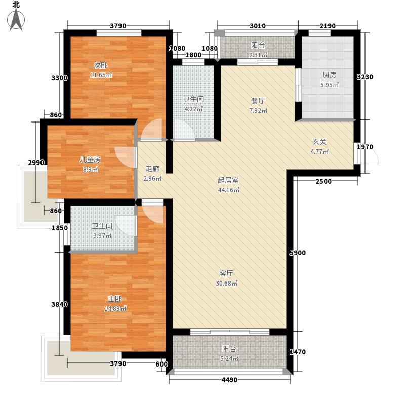 海上嘉年华·御府臧海豪邸1#、2#、3#、4#平层A1户型3室2厅