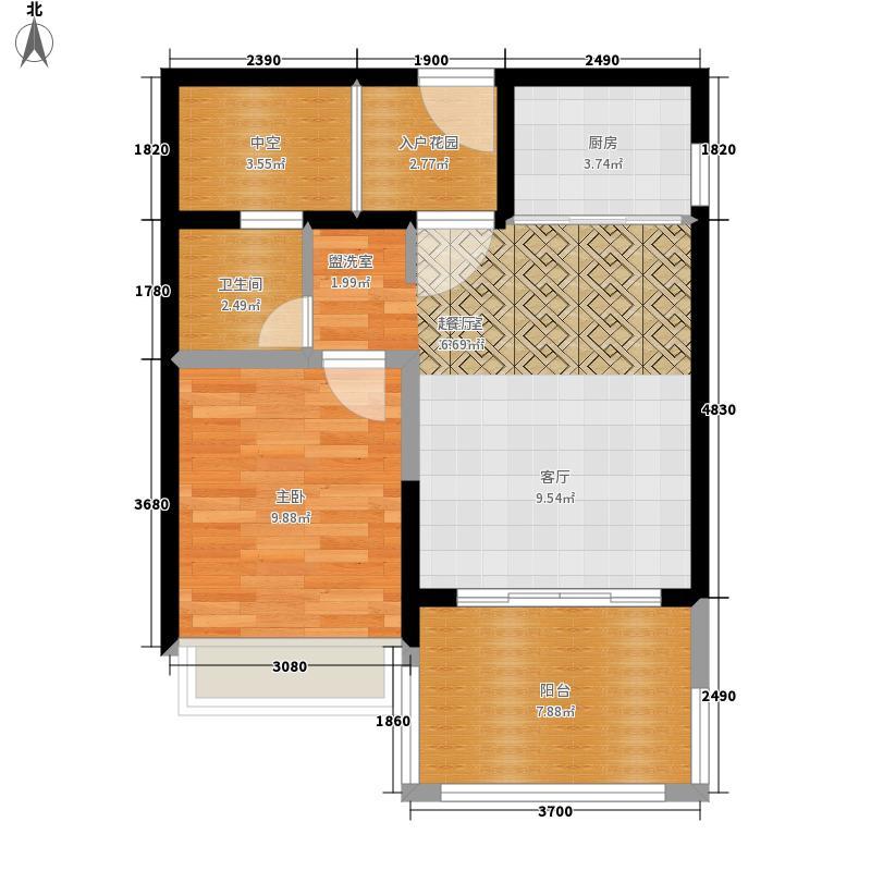 保元18°花园54.00㎡B户型1室2厅