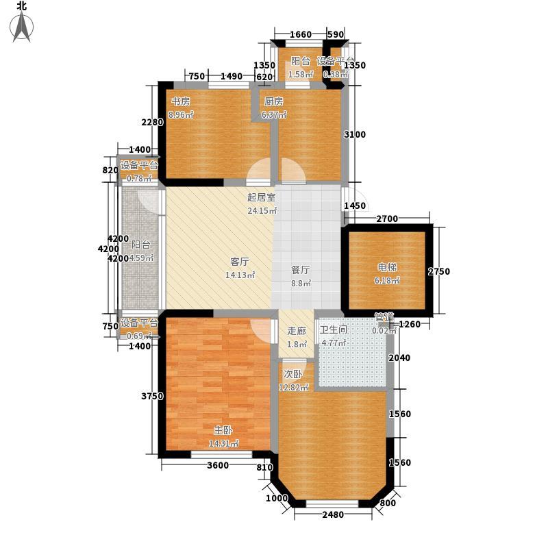 听雨观澜电梯洋房97.00㎡听雨观澜电梯洋房户型3室2厅