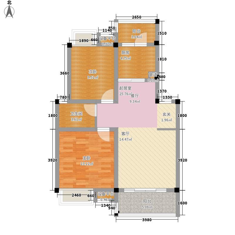 彰泰实业79.00㎡51号楼B8户型