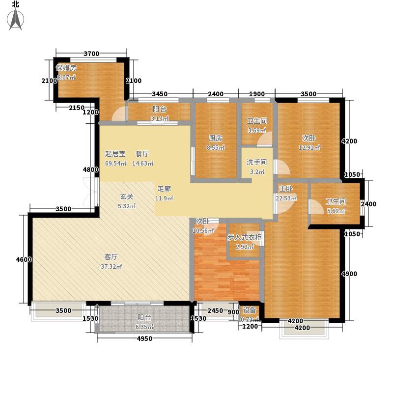 中润世纪中心200.00㎡A户型4室2厅