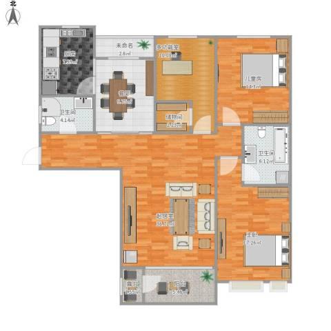 金屋秦皇半岛2室1厅2卫1厨159.00㎡户型图