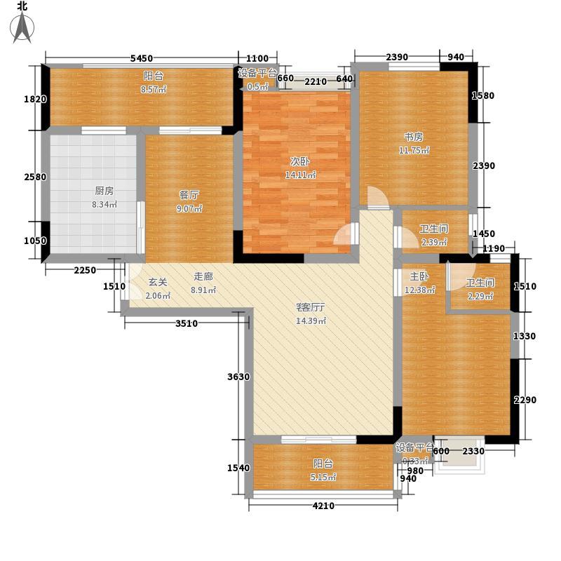 恩施机电汽配城131.64㎡九立方A户型3室2厅2卫