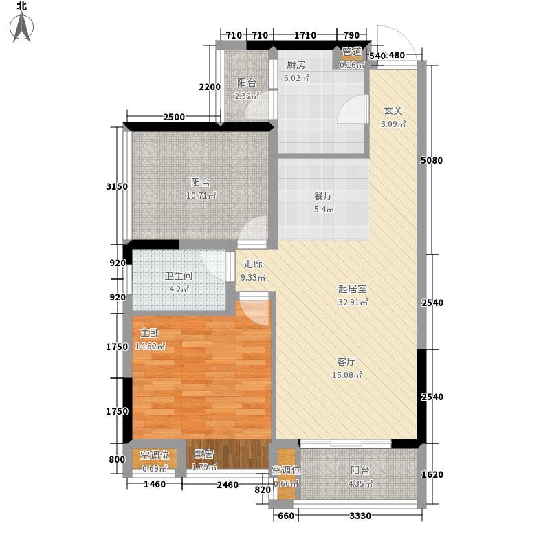 万盛翠林豪庭1栋0405单元户型