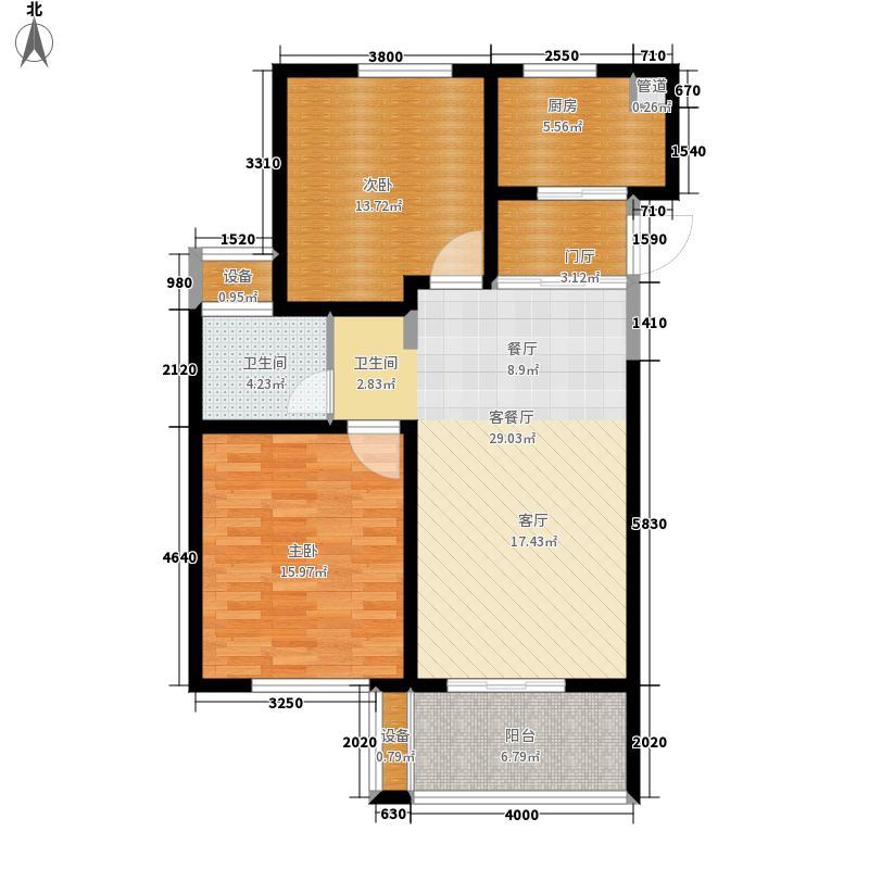 长江国际朗庭89.00㎡户型2室2厅