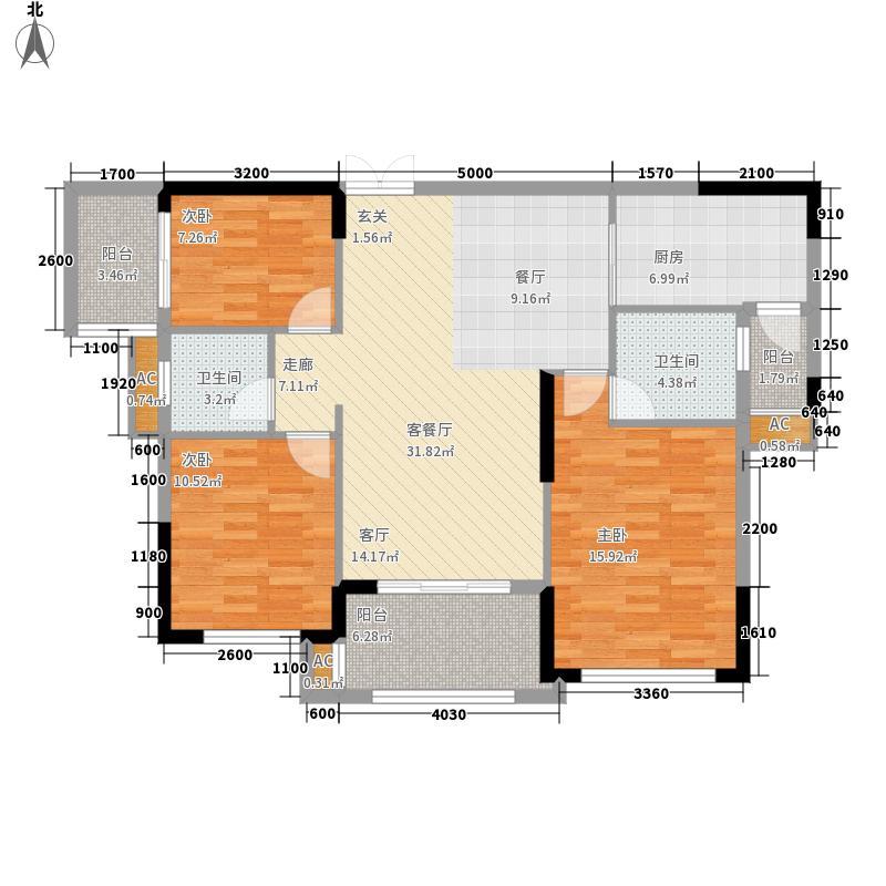 利海托斯卡纳117.00㎡7、8、11号面积11700m户型