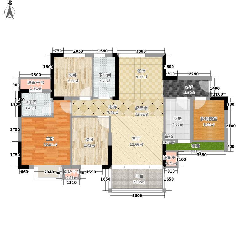 龙光阳光海岸106.00㎡19#20#21#A户型4室2厅