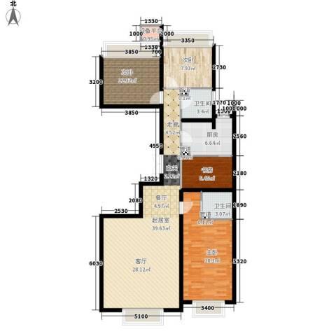 龙湖·时代天街4室0厅2卫1厨130.00㎡户型图