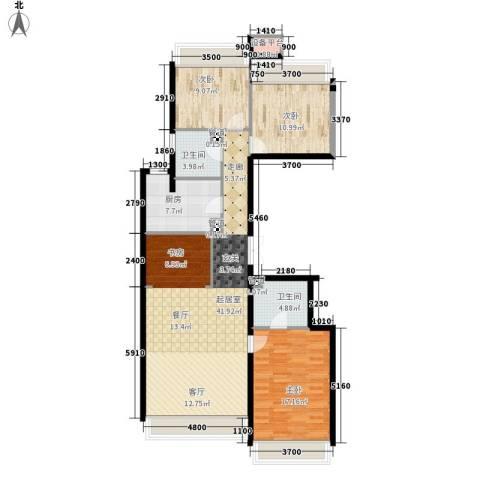 龙湖·时代天街3室0厅2卫1厨145.00㎡户型图