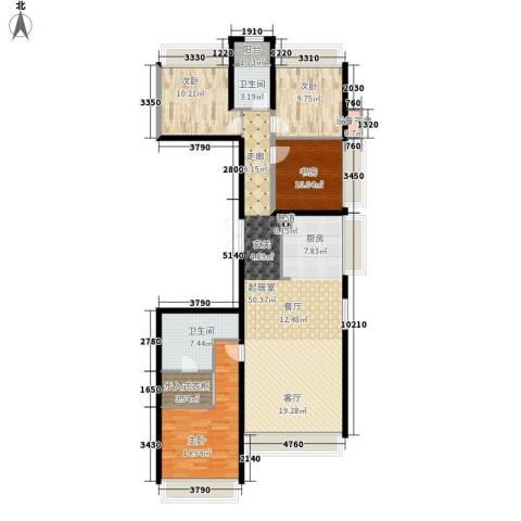龙湖·时代天街4室0厅2卫0厨168.00㎡户型图