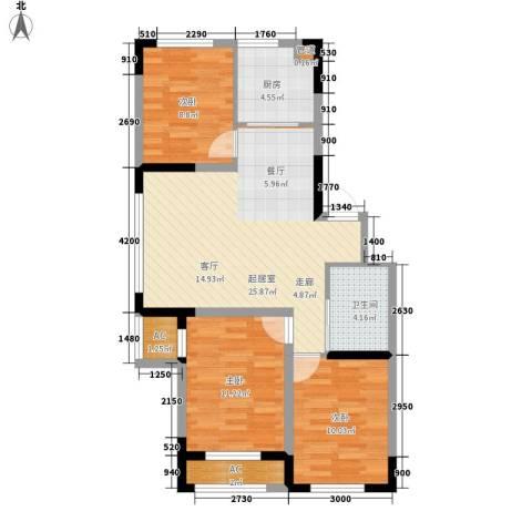 青旅福润家园3室0厅1卫1厨100.00㎡户型图