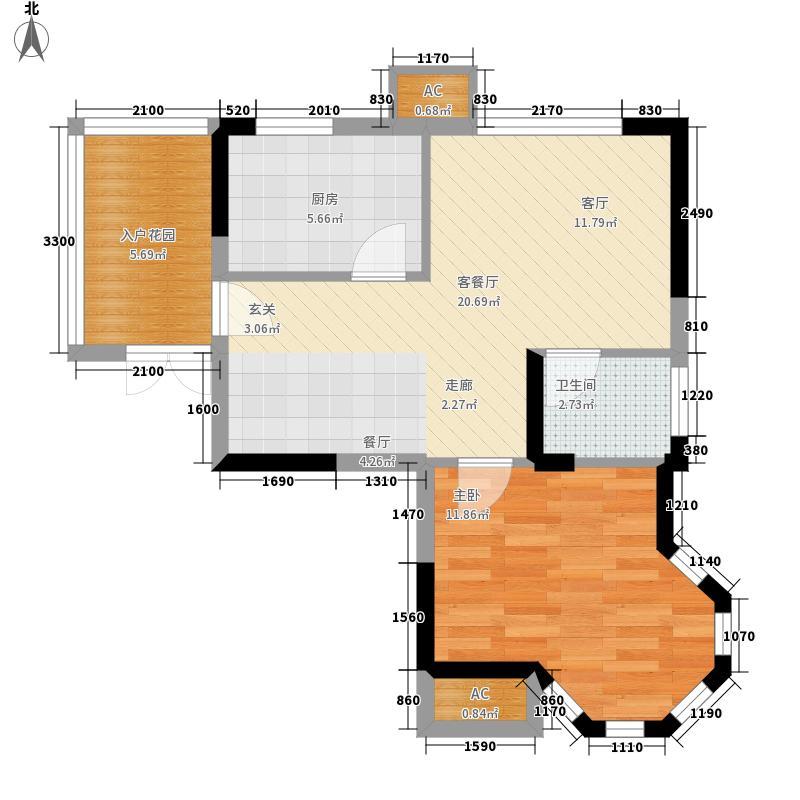 利海托斯卡纳59.00㎡9、10号楼h面积5900m户型