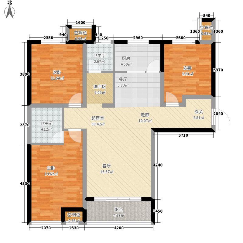 如园120.00㎡1#2#C户型3室2厅