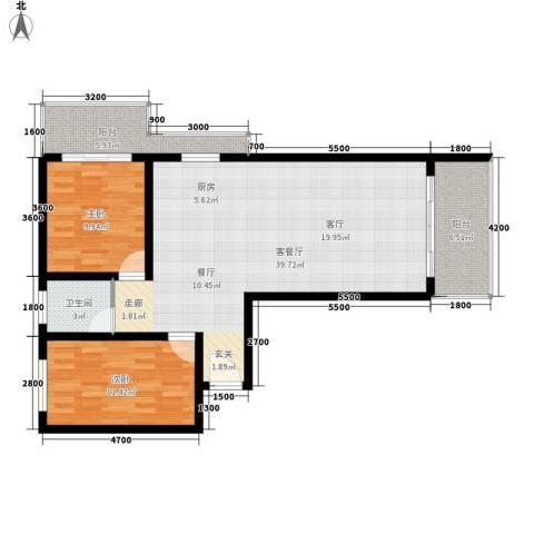 宏鑫锦江国际2室1厅1卫0厨94.00㎡户型图