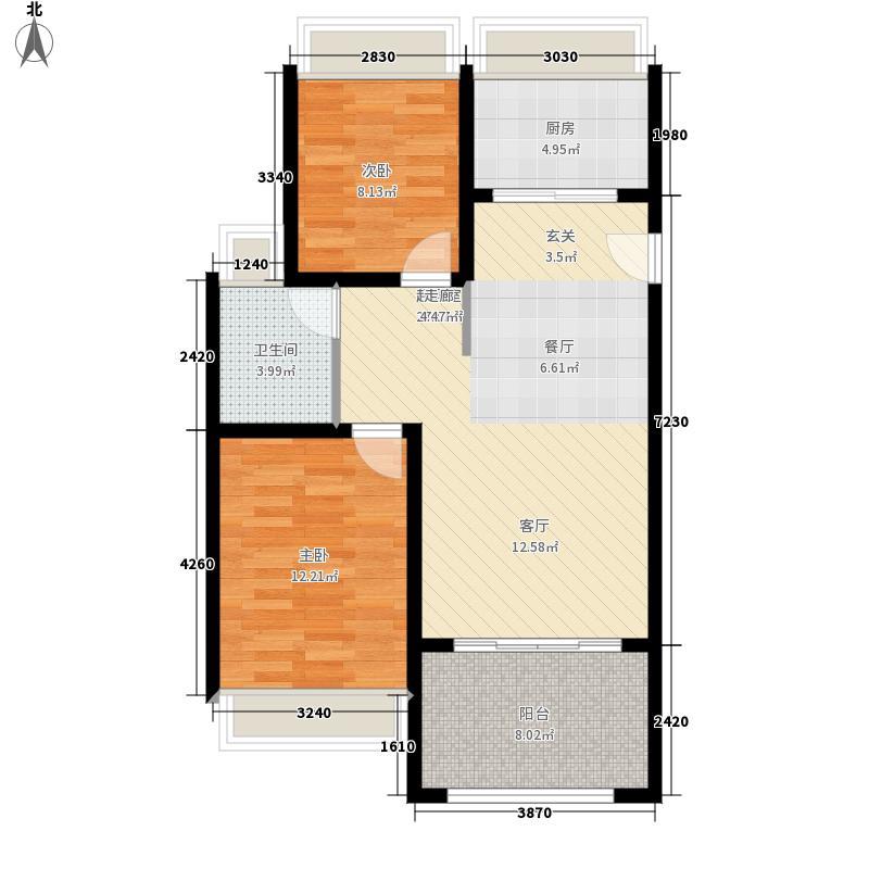 保元18°花园82.00㎡A户型2室2厅