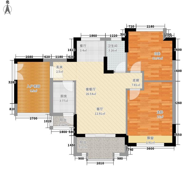 利海托斯卡纳98.00㎡9号楼j1面积9800m户型