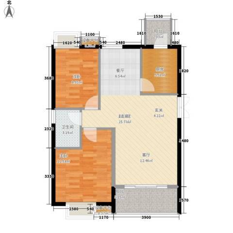 高山流水2室0厅1卫1厨70.00㎡户型图