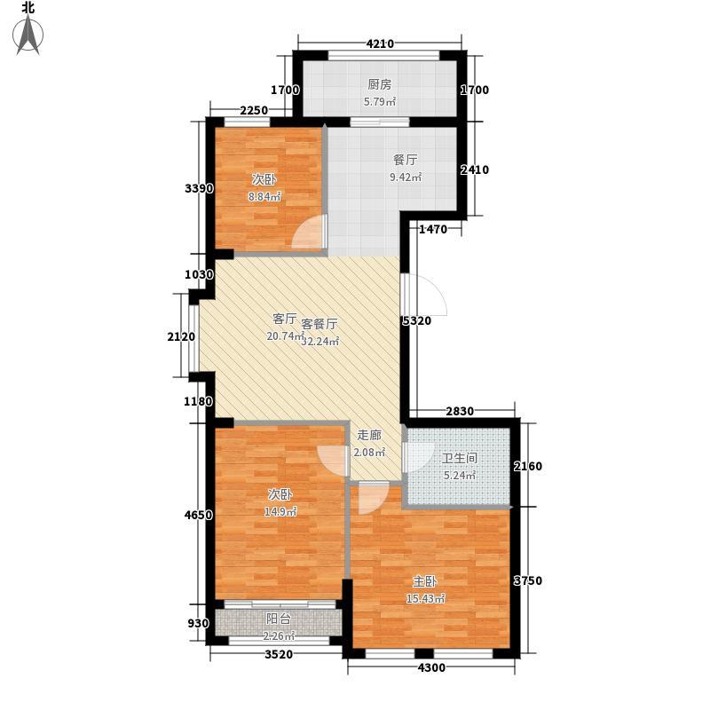 玺山94.28㎡D户型3室2厅