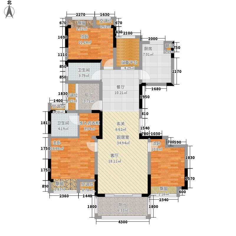 桂林高新万达广场136.19㎡A户型3室2厅