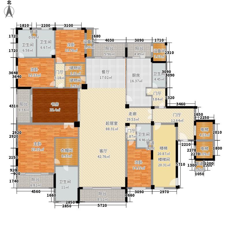 泊璟廷375.00㎡G户型4室3厅