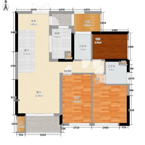 芳邻雅居3室0厅2卫1厨119.00㎡户型图