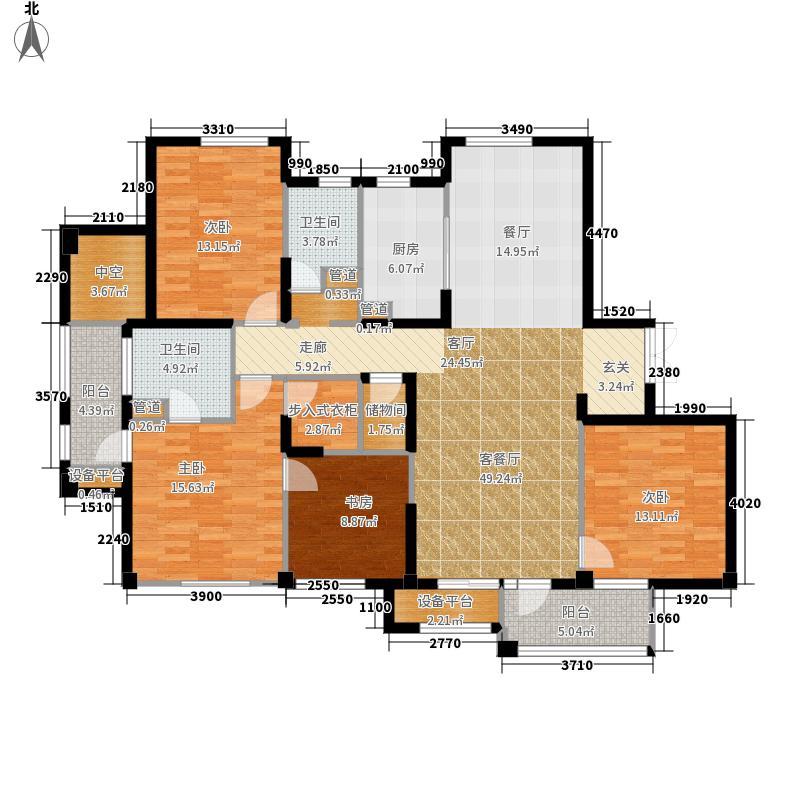 绿城理想之城190.00㎡蓝岸C1户型4室2厅