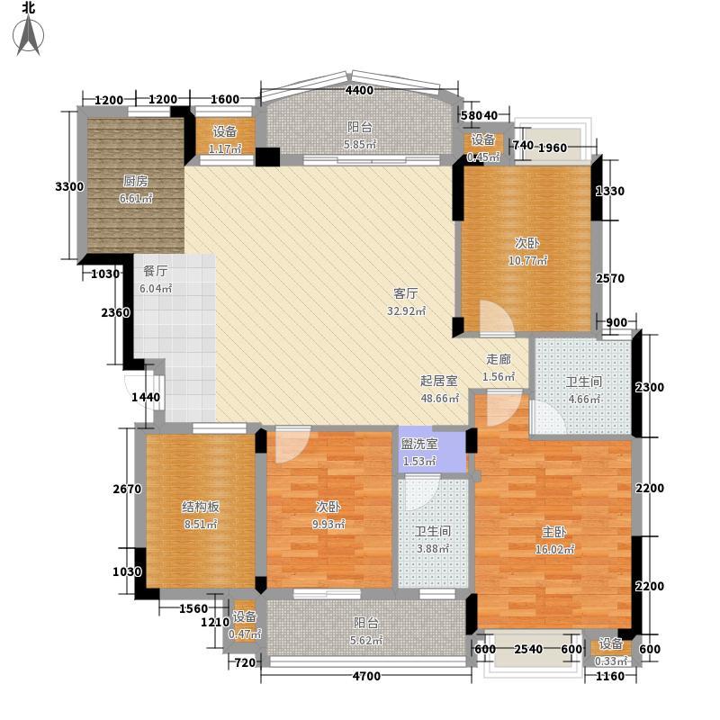 华展华园127.05㎡华展・华园24#楼A2户型