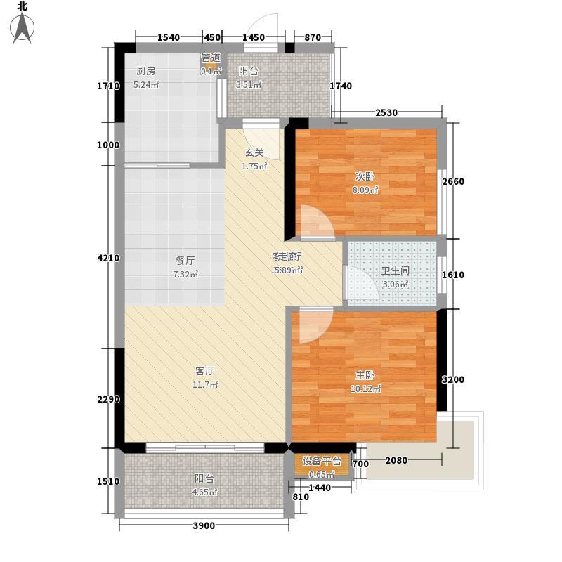 柳工颐华城82.00㎡5#楼3单元2号房/4单元3号房2室户型