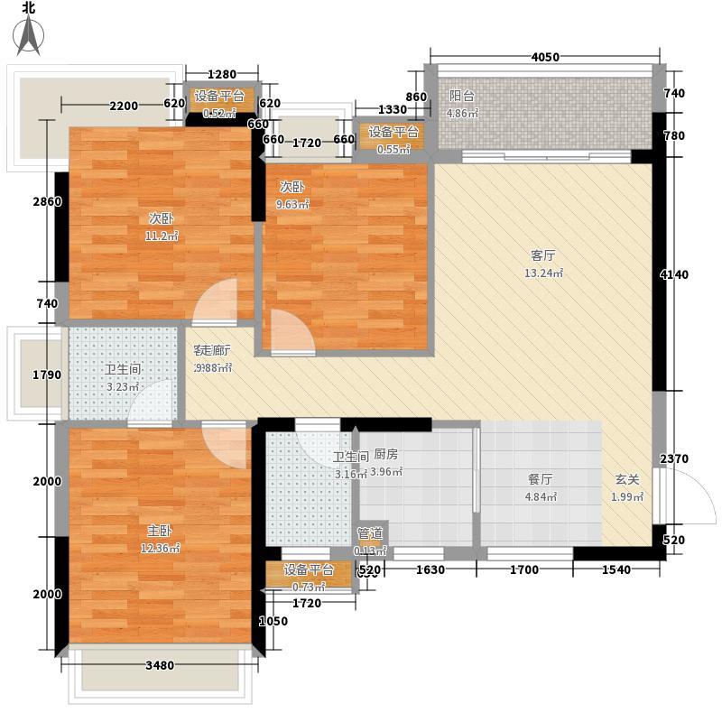 柳工颐华城110.00㎡5#楼3单元4号房/4单元1号房3室户型
