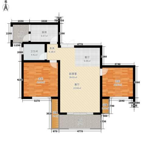 恒鑫花园2室0厅1卫1厨100.00㎡户型图