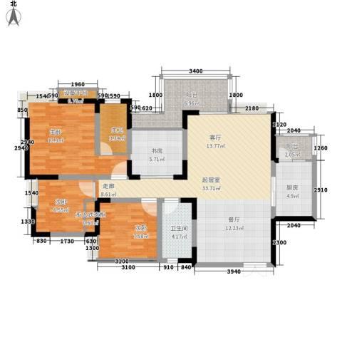 锦上华庭北区观苑4室0厅1卫1厨110.00㎡户型图