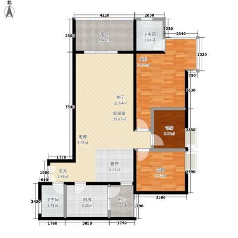 东和春天3室0厅2卫1厨138.00㎡户型图