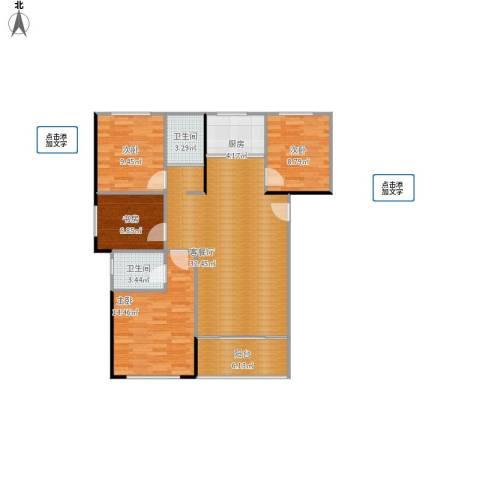 旭辉香樟公馆4室1厅2卫1厨120.00㎡户型图